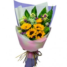 5pcs Sun Flowers Bouquet Valentines Day