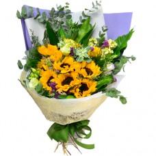 10pcs Sun Flowers Bouquet